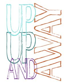 Up Up and Away free color printable