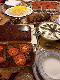 Beautiful Persian Dinner table. #Persian Food