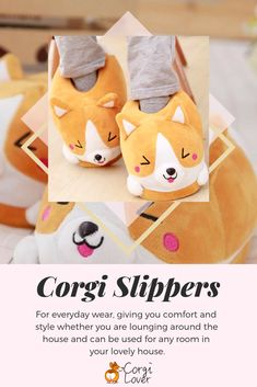 ef4d245f1175 Have you seen these handmade corgi slippers for women  Talk about  adorable  — If