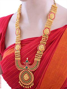 Exclusive Latest Mahalakshmi Haaram Set