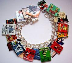 Retro MICKEY MOUSE Charm Bracelet-
