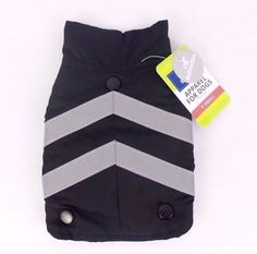 Top Paw BLK GRY Dog Harness Vest XS Adjust Reflective 2 In 1 Sweater Coat  #TopPaw