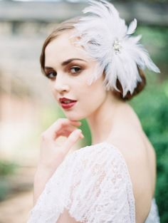 1920's inspired bridal hair accessories from Enchanted Atelier | via junebugweddings.com