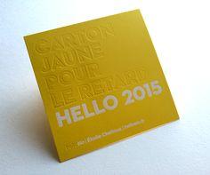 Print : Badcass - Design : Hello Elo - Carte de voeux en letterpress - #débossage #marquageàchaud
