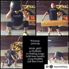 FIREFIGHTER FITNESS It's hot and muggy but the work still has to be done. Want to be featured? Show us how you train hard and do work Use in your post. You can learn more about us and our charity by visiting Morning Gym, Firefighter Workout, Bear Crawl, Firetruck, Firefighters, Train Hard, Lunges, Jogging, Ems