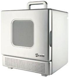 Iwavecube Iw600sil 600 Watt Personal Desktop Microwave Oven Silver