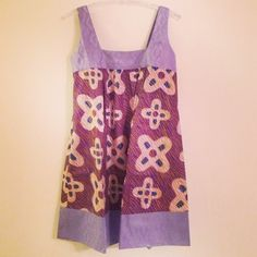 Strap Dress Kampala Violet by AfricanEchoes on Etsy