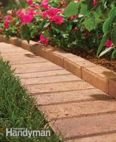 Mowing borders keep grass from growing along flower beds, walls, fences and other obstacles where your lawn mower can't reach. You can run your mower right over the borders & clip off every blade of grass. You'll save time & effort because you won't have to go back and trim later.    For long-term success, follow these two guidelines: (1) Install a border that's at least 4 in. deep.This keeps grass roots from creeping under the border and sprouting in the flower bed or along the fence. (2) Set