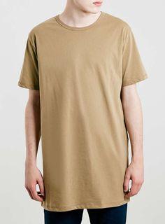 Camel Slim Long Line T-Shirt