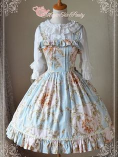 Sweet Lolita Dress Veronica Classic Printed JSK Magic Tea Party Lolita Jumper Skirt - Milanoo.com