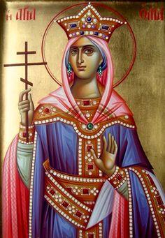 St. Olga of Kiev - July 11 Olga Of Kiev, Jesus Painting, Orthodox Christianity, Orthodox Icons, Art Lessons, Saints, Princess Zelda, Statue, July 11
