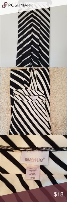 Maxi Skirt Black and white ombré maxi skirt. Soft and comfy. Gradient pattern. Lightweight. Avenue Skirts Maxi