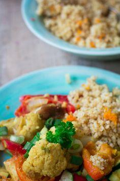 Veganes Gemüsecurry mit Clementinen und Orangenbulgur-1-5