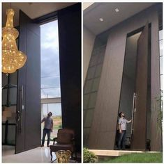 34 Giant Objects Among Us! Everyone wants to look by Mr MaTriX Modern Residential Architecture, Main Door Design, Front Door Entrance, Pivot Doors, Modern Door, Modern Luxury, Home Interior Design, House Design, Humor
