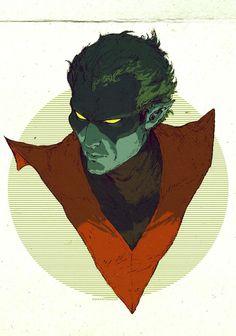 X-Men: Archangel, Beast, Colossus, Cyclops, Gambit, Nightcrawler, Psylocke, Rogue, Storm & Wolverine - David Rapoza