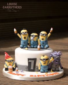Despicable Me 2 and Minions Cake for William's 7th birthday. Loved making this x https://www.facebook.com/LouiseCarruthersCakeDesign