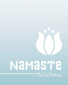 Digital Art Poster Namaste Bitches Light Red by hairbrainedschemes, $15.00