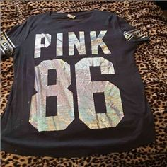 Pink T-shirt Has a few small bleach stains. Please ask if you have any questions. Reasonable offers accepted PINK Victoria's Secret Tops Tees - Short Sleeve