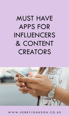 Must Have Apps for Influencers & Content Creators - Kerry Johnson Social Business, Business Tips, Basic Image, Self Branding, Create Collage, Social Media Engagement, How To Stop Procrastinating, Social Media Content, App Design