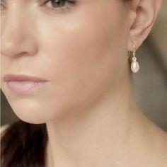 Delicate pearl drop earrings | London earrings | Victoria Fergusson