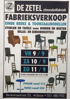 Fabrieksverkoop De Zetel -- Ardooie -- 09/09-11/09