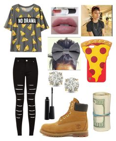 """""""Shopping with bæ"""" by cutetbae ❤ liked on Polyvore featuring Timberland, Auriya and MAC Cosmetics"""