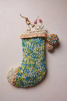 Knitted Tassel Stocking