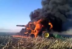 john deere combine accidents, combine harvester fire, amazing combine tractor…