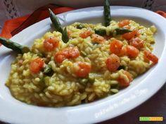 Risotto con asparagi e gamberetti  #ricette #food #recipes