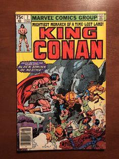 King Conan #2 (1980) 7.5 VF Marvel Key Issue Comic John Buscema Newsstand