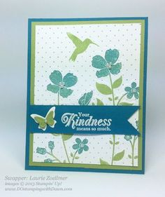 dostamping, stampin up, wildflower meadow bundle, laurie zoellmer