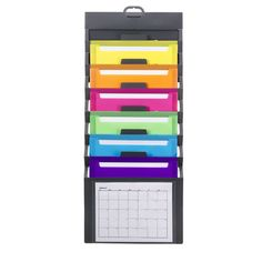 Hang this on your wall at school... Paper clip papers that need to be graded and place by subject into this organizer! If you want to take papers home to grade, it folds up into a carrier!! How neat!!