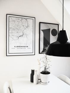 Map poster of Copenhagen, Denmark. Print size 50 x 70 cm. Custom black and white map posters online. Mapiful.com