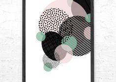By Tinit Illustration – illustration – tegning – poster – plakat – design – designbutik – til børneværelse – til børn – dekoration – Tinga Tango Designbutik – Bobler – grafisk