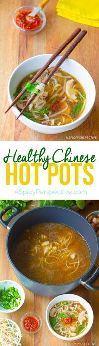 Hot Healthy Chinese Hot Pot Recipe (Gluten Free) | I add fresh squeezed lime, sliced jalapenos, and fresh basil...OMG!