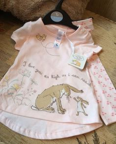 GUESS HOW MUCH I LOVE YOU Baby Girls T-shirt & Leggings Set 6-9 Months BNWT in Baby, Clothes, Shoes & Accessories, Girls' Clothing (0-24 Months)   eBay!