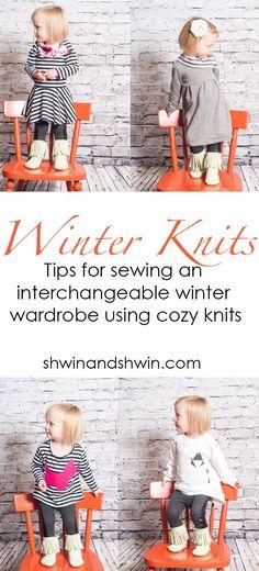 Winter knits    Tips for sewing an interchangeable winter wardrobe using cozy knits    Shwin&Shwin