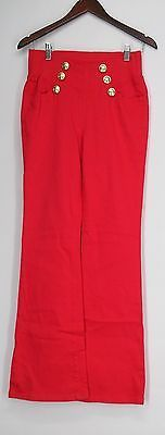 Diane Gilman Jeans S Super Stretch Sailor Style Fashion Red NEW | eBay