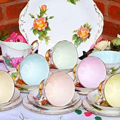 Paragon Harry Wheatcroft harlequin tea set by CakeStandLand