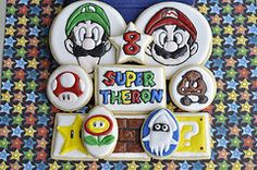 Super Mario Bros set of sugar cookies