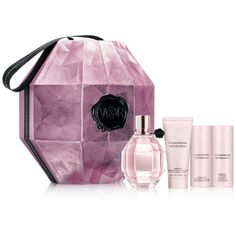 Viktor & Rolf 4-Pc. Flowerbomb Gift Set ($170) ❤ liked on Polyvore featuring beauty products, gift sets & kits, no color and eau de perfume
