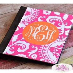 Monogrammed iPad Jacket. Would love this for my iPad!