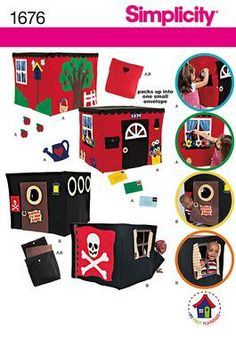 PLAY HOUSE PATTERN / Fits Over Cardtable Card Table / Playhouse - Tent / Boy or Girl / Pirate Cave or Cottage