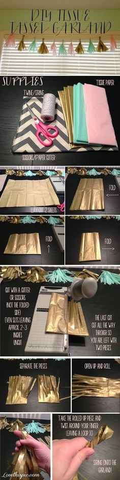 DIY tassel garland diy garland diy ideas diy crafts do it yourself diy tips diy images crafts diy crafts craft gifts diy gifts easy crafts easy diy
