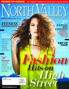 The Feb/March '15 cover of North Valley Magazine Produced by www.themediabarr.com www.northvalleymagazine.com #highstreet #northvalley #themediabarr