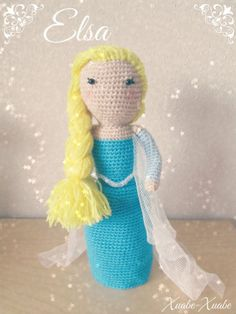 Amigurumi Patron De Elsa : Proyectos que debo intentar on Pinterest Elsa, Amigurumi ...