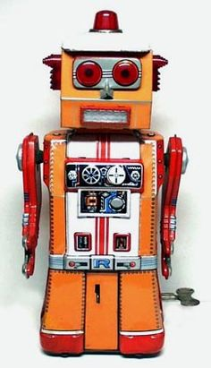 .never seen this guy before #vintage #robot #tinrobot