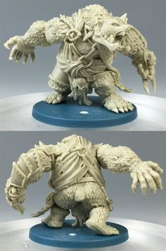 Werebear resin figure.