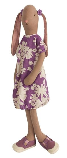 Maileg Mega Maxi paars gebloemde jurk met elastiekjes