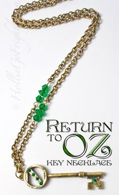 Return to Oz Key Necklace with Emerald